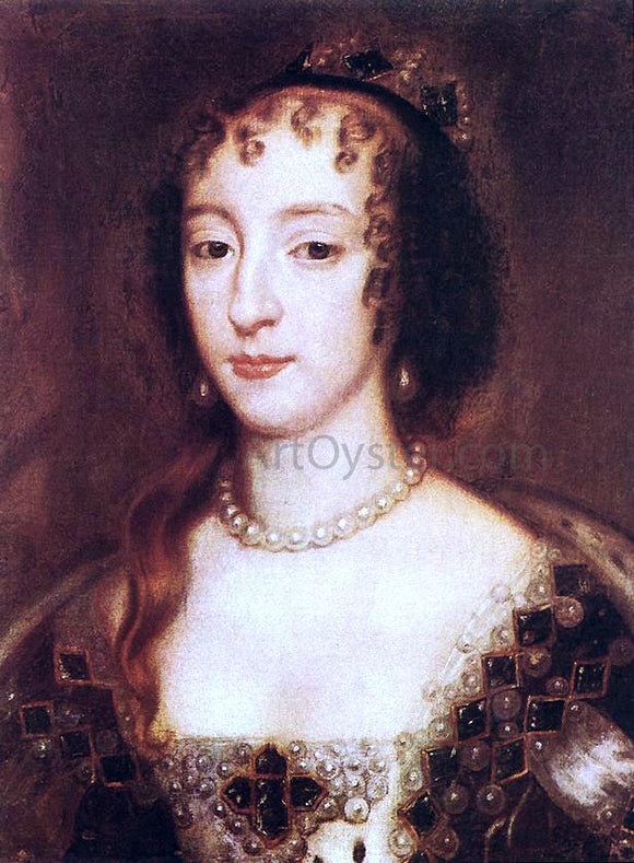 Sir Peter Lely Henrietta Maria of France, Queen of England - Canvas Art Print