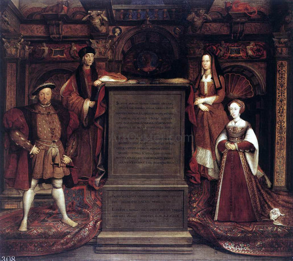 Remigius Van Leemput Henry VII, Elizabeth of York, Henry VIII, and Jane Seymour - Canvas Art Print