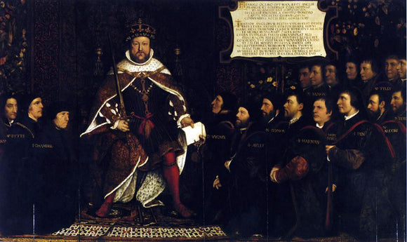The Younger Hans Holbein Henry VIII and the Barber Surgeons - Canvas Art Print