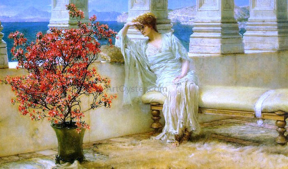 Sir Lawrence Alma-Tadema Her Eyes are with Her Thoughts and They are Far Away - Canvas Art Print