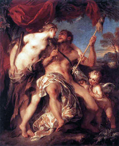 Francois Lemoyne Hercules and Omphale - Canvas Art Print