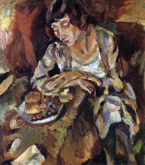 Jules Pascin Hermine with Fruit - Canvas Art Print