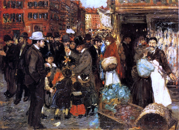 George Luks Hester Street - Canvas Art Print