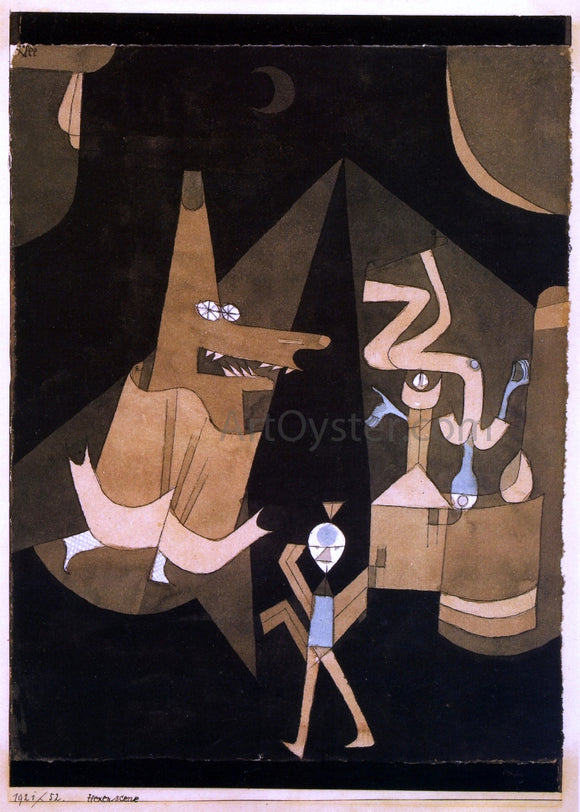 Paul Klee Hexen-scene - Canvas Art Print