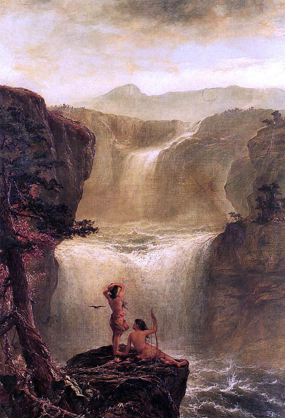 Jerome B. Thompson Hiawatha and Minnehaha on Their Honeymoon - Canvas Art Print