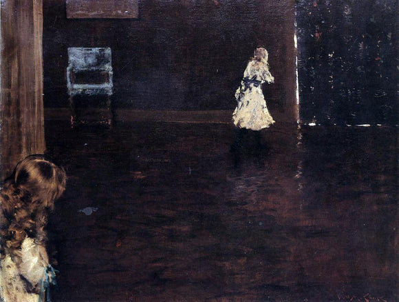 William Merritt Chase Hide and Seek - Canvas Art Print