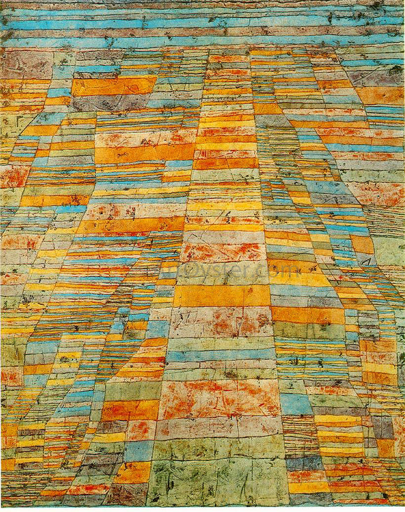 Paul Klee Highway and Byways - Canvas Art Print