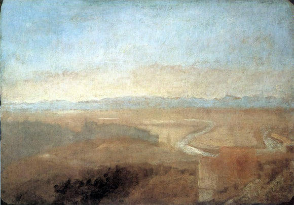 Joseph William Turner Hill Town on the Edge of the Campagna - Canvas Art Print