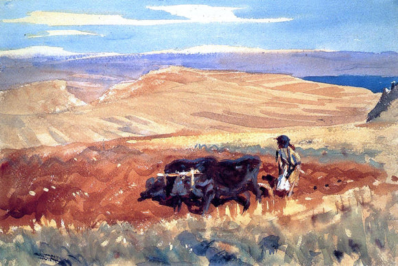 John Singer Sargent Hills of Galilee - Canvas Art Print