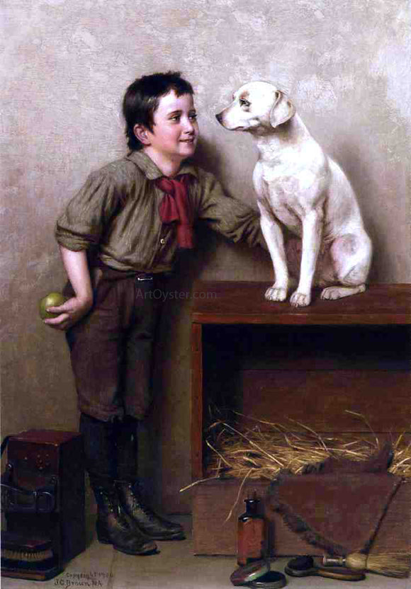 John George Brown His Favorite Pet - Canvas Art Print