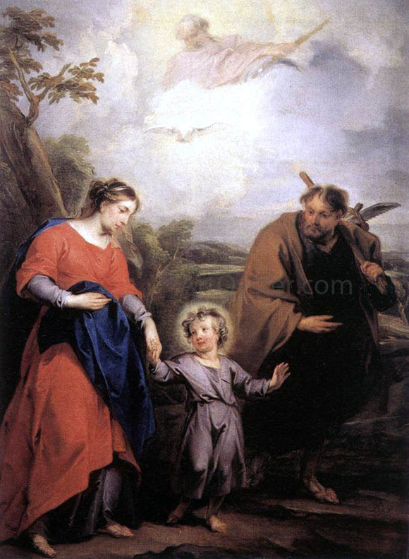 Jacob De Wit Holy Family and Trinity - Canvas Art Print
