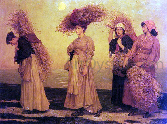 Valentine Cameron Prinsep Home From Gleaning - Canvas Art Print