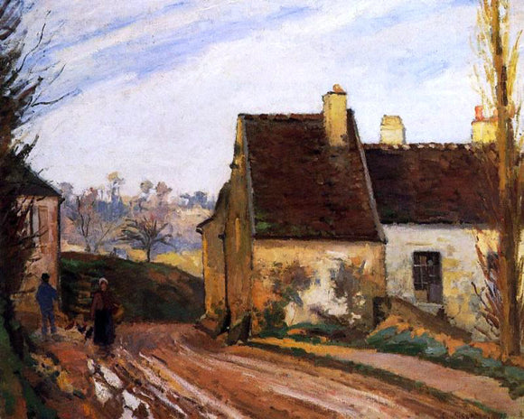 Camille Pissarro Homes near the Osny - Canvas Art Print