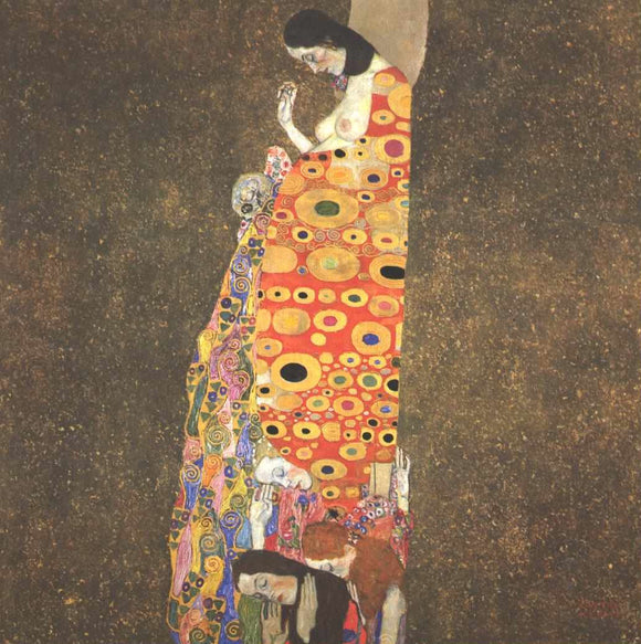 Gustav Klimt Hope II - Canvas Art Print