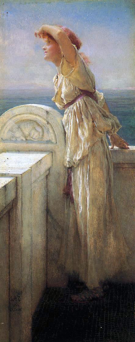 Sir Lawrence Alma-Tadema Hopeful - Canvas Art Print