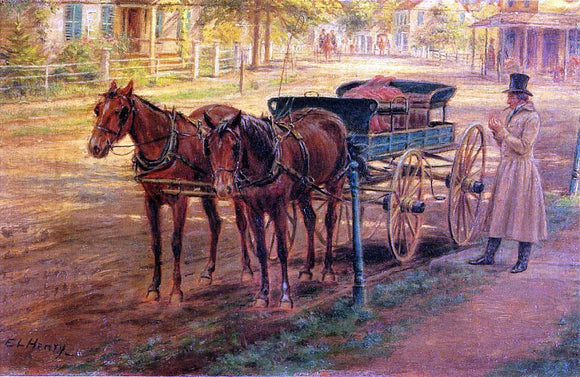 Edward Lamson Henry Horse and Buggy - Canvas Art Print