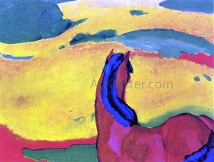 Franz Marc Horse in a Landscape - Canvas Art Print