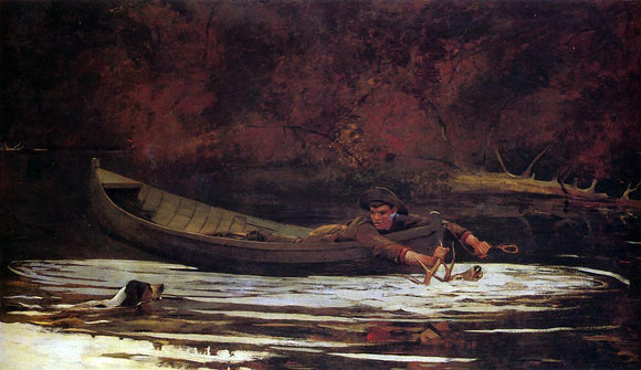 Winslow Homer Hound and Hunter - Canvas Art Print