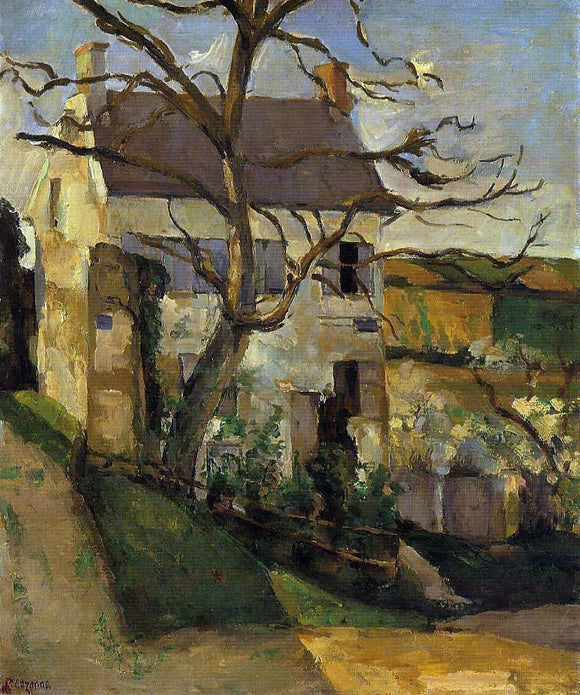 Paul Cezanne House and Tree, the Hermitage, Pontoise - Canvas Art Print