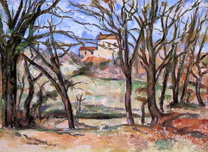 Paul Cezanne House Behind Trees on the Road to Tholonet - Canvas Art Print