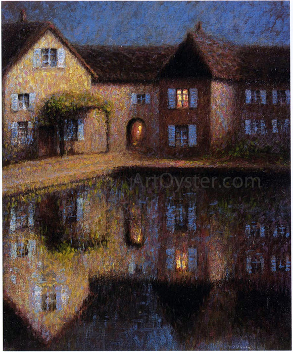 Henri Le Sidaner House by the Eau - Canvas Art Print