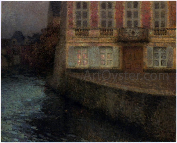 Henri Le Sidaner House by the Quentin Canal - Canvas Art Print