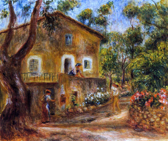 Pierre Auguste Renoir A House in Collett at Cagnes - Canvas Art Print