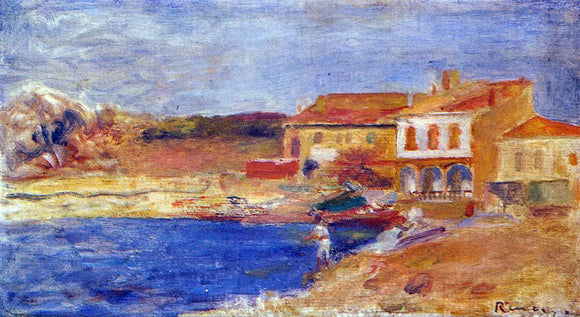 Pierre Auguste Renoir Houses by the Sea - Canvas Art Print