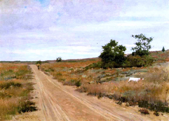 William Merritt Chase Hunting Game in Shinnecock Hills - Canvas Art Print