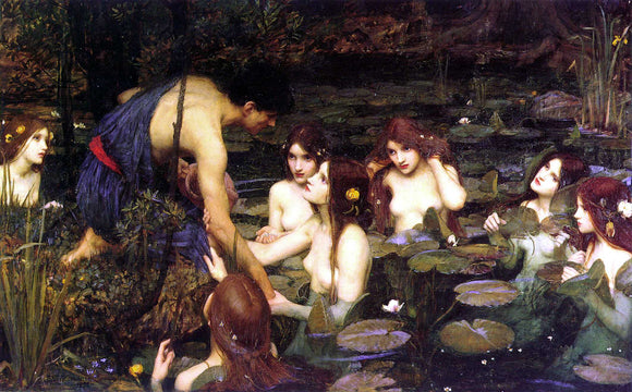 John William Waterhouse Hylas and the Nymphs - Canvas Art Print
