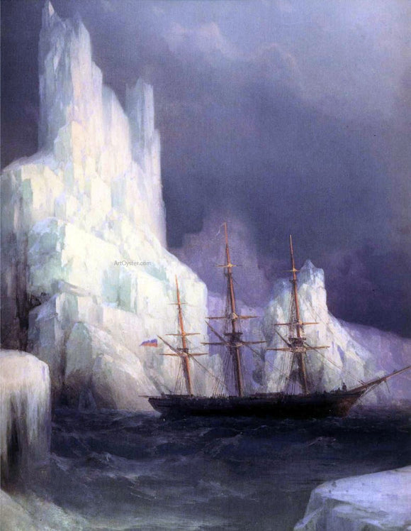 Ivan Constantinovich Aivazovsky Icebergs in the Atlantic (detail) - Canvas Art Print