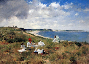 William Merritt Chase Idle Hours - Canvas Art Print