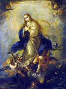The Younger Mateo Cerezo Immaculate Conception - Canvas Art Print
