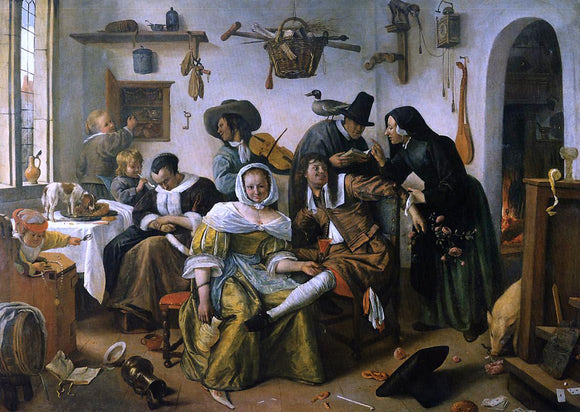Jan Steen In Luxury Beware - Canvas Art Print