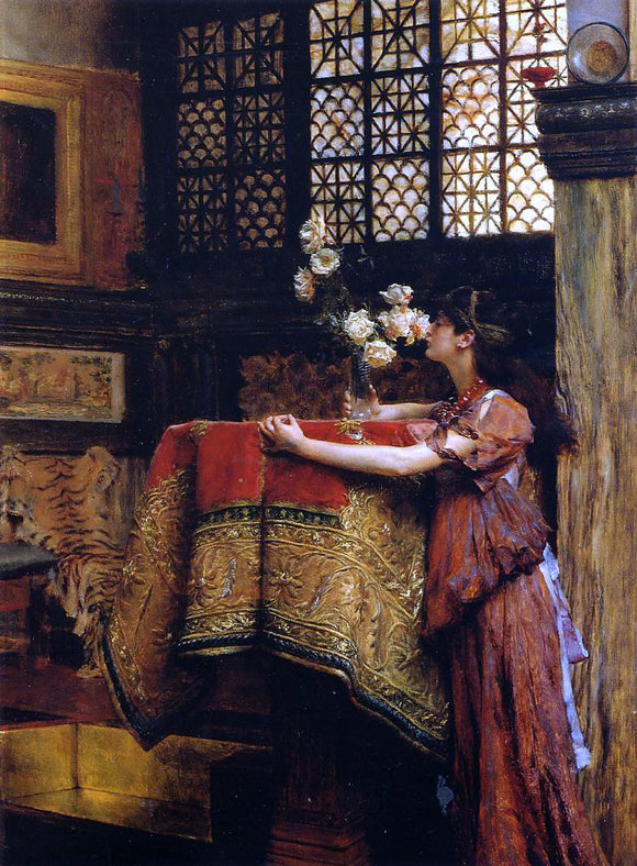 Sir Lawrence Alma-Tadema In My Studio - Canvas Art Print