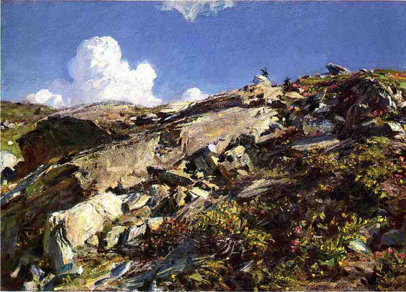 John Singer Sargent In the Alps - Canvas Art Print