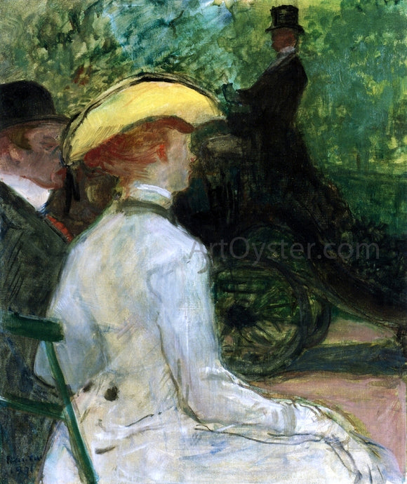 Henri De Toulouse-Lautrec In the Bois de Boulogne - Canvas Art Print