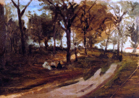 Paul Gauguin In the Forest, Saint-Cloud (sketch) - Canvas Art Print