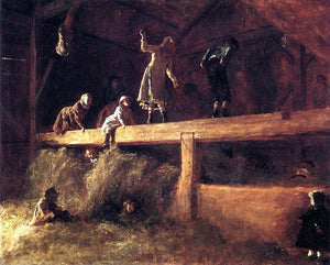Eastman Johnson In the Hayloft - Canvas Art Print