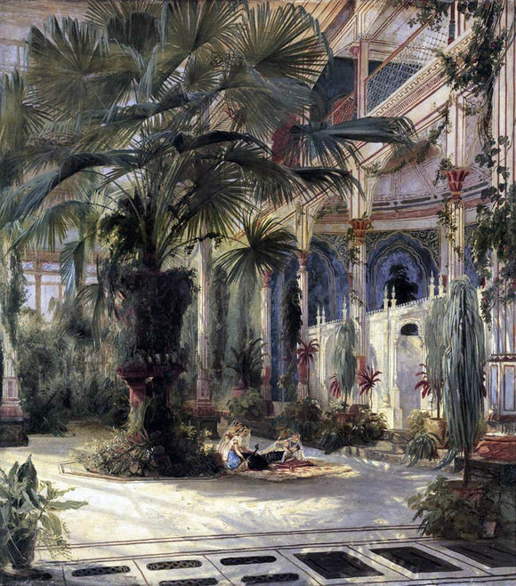 Carl Blechen In the Palm House in Potsdam - Canvas Art Print