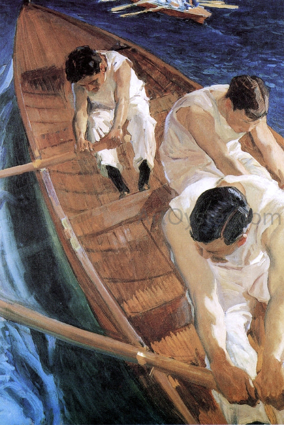 Joaquin Sorolla Y Bastida In the Racing Shell - Canvas Art Print