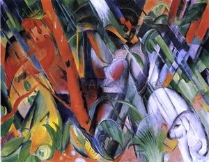 Franz Marc In the Rain - Canvas Art Print