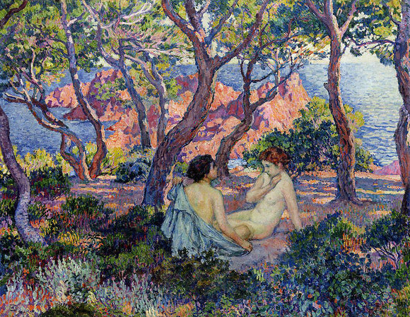 Theo Van Rysselberghe In the Shade of the Pines - Canvas Art Print