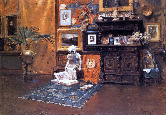 William Merritt Chase In the Studio - Canvas Art Print