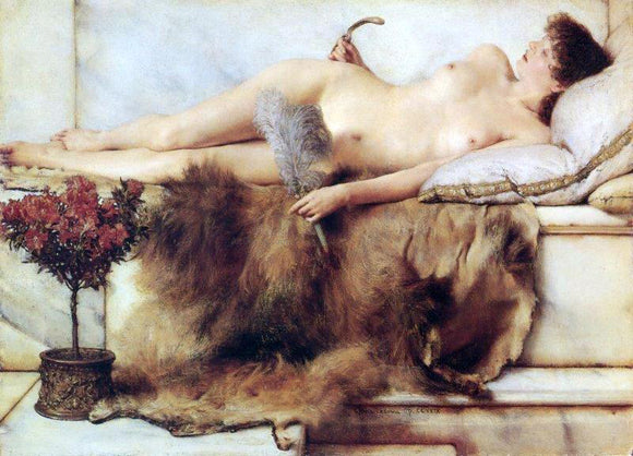 Sir Lawrence Alma-Tadema In the Tepidarium - Canvas Art Print