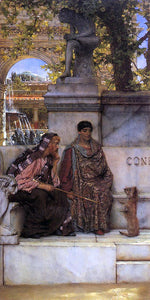 Sir Lawrence Alma-Tadema In the Time of Constantine - Canvas Art Print