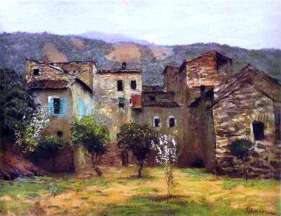 Isaac Ilich Levitan In the Vicinity of Bordiguera, in the North of Italy - Canvas Art Print