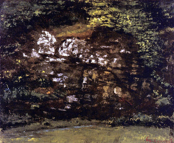 Gustave Courbet In the Woods - Canvas Art Print