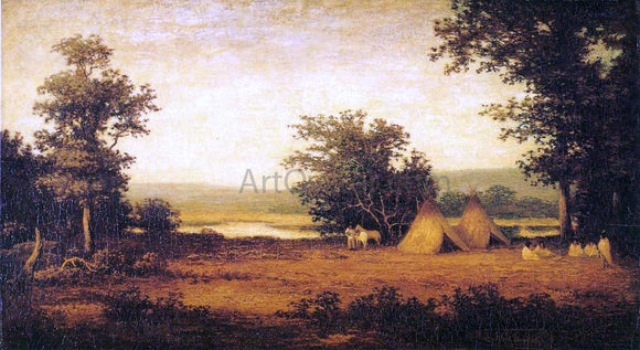 Ralph Albert Blakelock Indian Encampment on the James River, North Dakota - Canvas Art Print