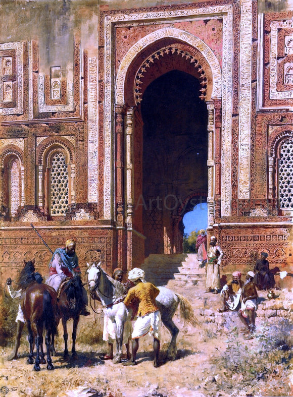 Edwin Lord Weeks Indian Horsemen at the Gateway of Alah-ou-din, Old Delhi - Canvas Art Print